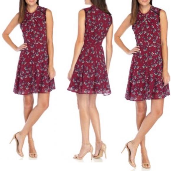 ea8e2f934c NANETTE LEPORE Twist Neck Printed Fit Flare Dress
